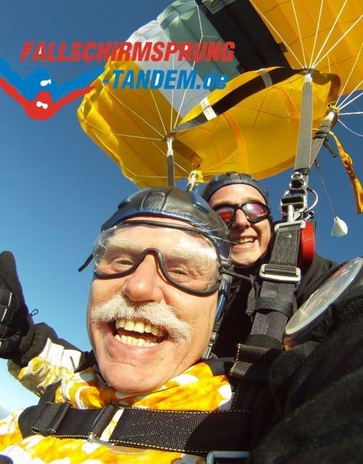 Tandemsprung über 90 KG Fallschirmspringen